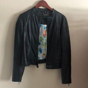 Joujou black leather jacket